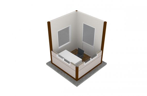 Moderní montovana kabina 200x200