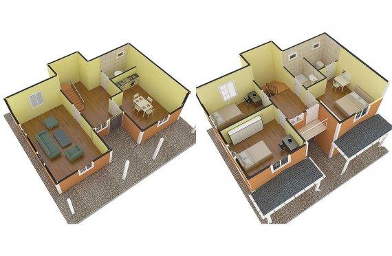 Celoroční mobilní domy 4 kk