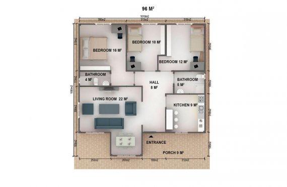 Dřevěné domky k bydlení