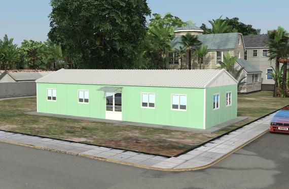 Modulární kancelářská budova 106 m²