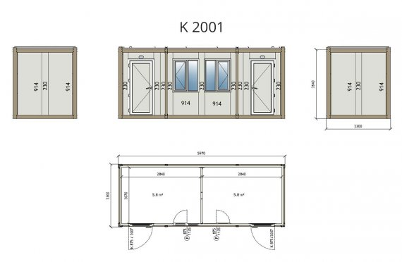 kontejnerové domy projekty