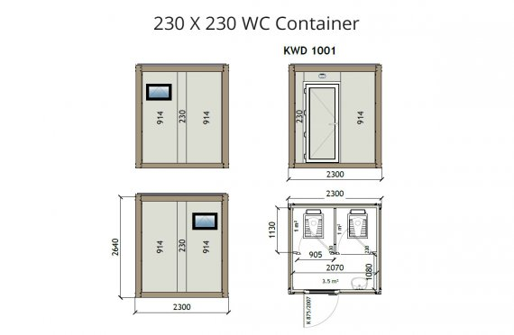 KW2 230X230 Wc Kontejner