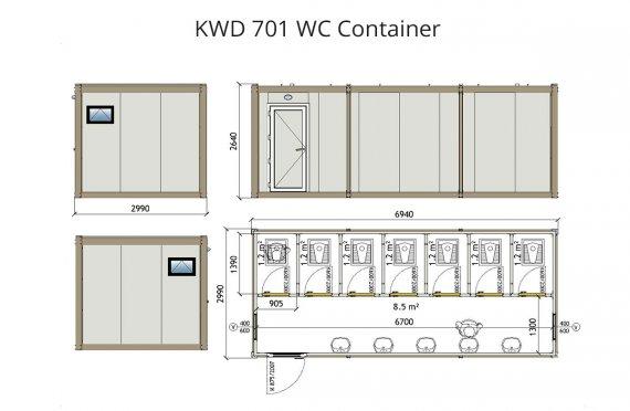 KWD 701 Wc Kontejner