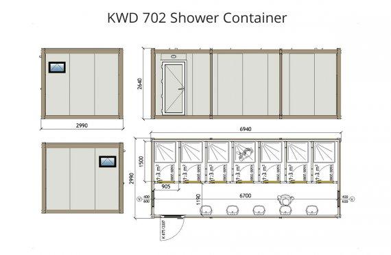 KWD 702 Sprchový kontejner