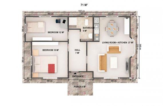 Mobilní dům 38 m