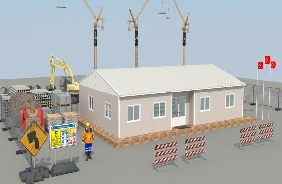 Modulární kancelářská budova 125 m²