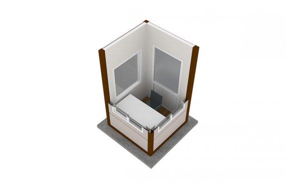 Moderní montovana kabina 150x150