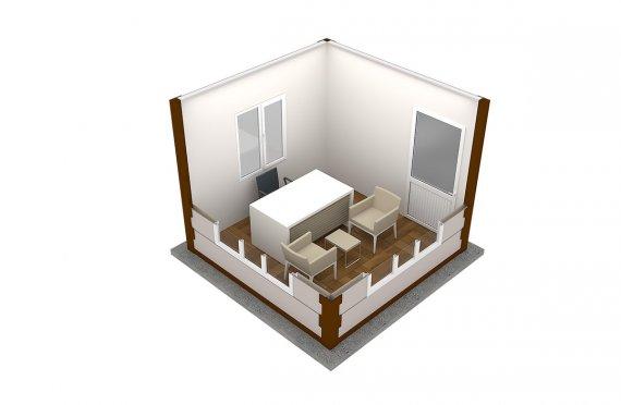 Moderní montovana kabina 300x300