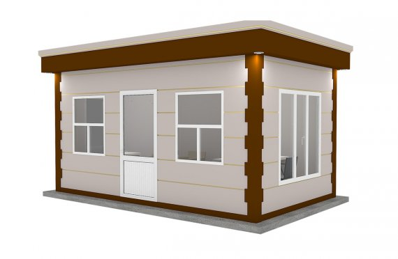 Moderní montovana kabina 300x500