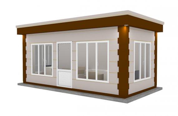 Moderní montovana kabina 300x600