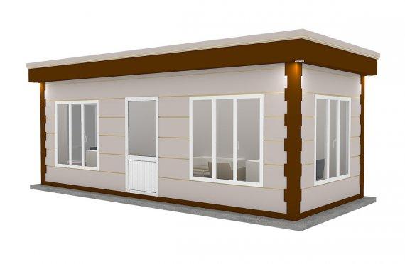 Moderní montovana kabina 300x700
