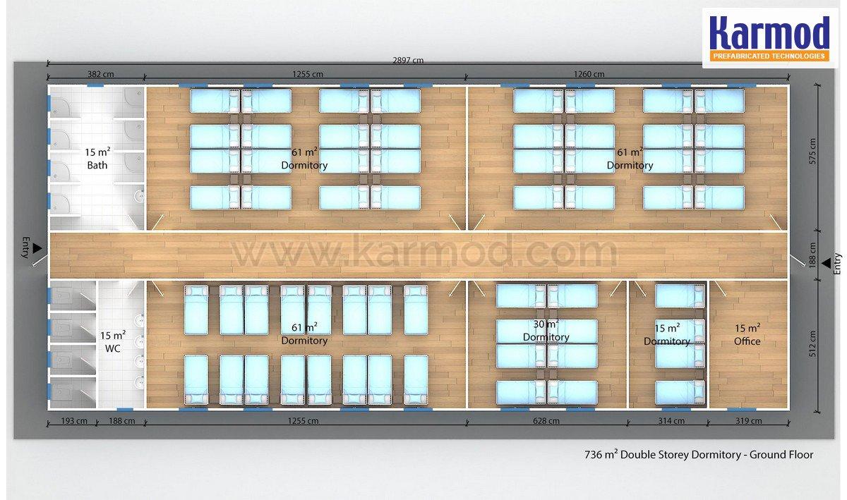 Modulární kanceláří a ubytoven