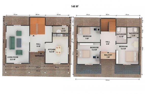 Montovane domy bez yakladu