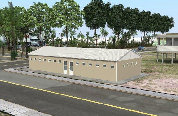 Montovaný WC   & Sprchová budova 145 M²