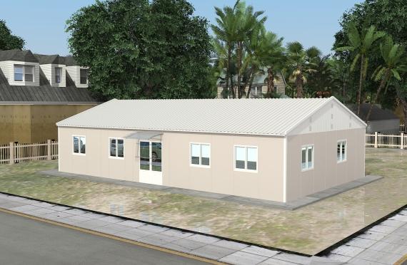 Modulární kancelářská budova 136 m²