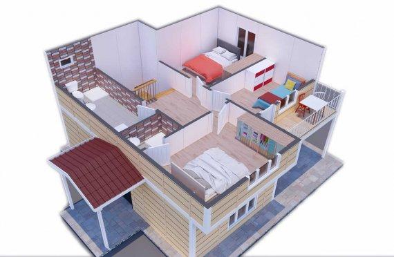 Prefabrikované Domy 137 m2