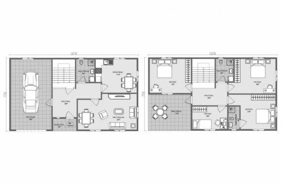 Prefabrikované Domy 206 m2