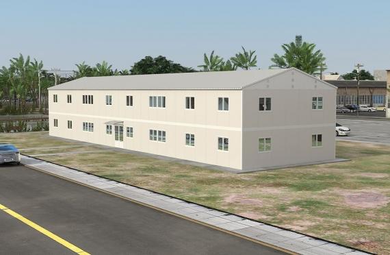 Modulární kancelářská budova 588 m²