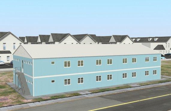 Modulární ubytovací jednotka 736 m²