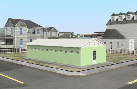 Prefabrikovaná WC & Sprchová budova 97 m²