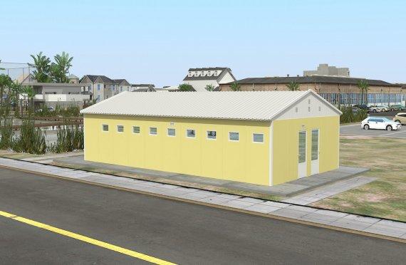 Prefabrikovaná WC & Sprchová budova 82 m²