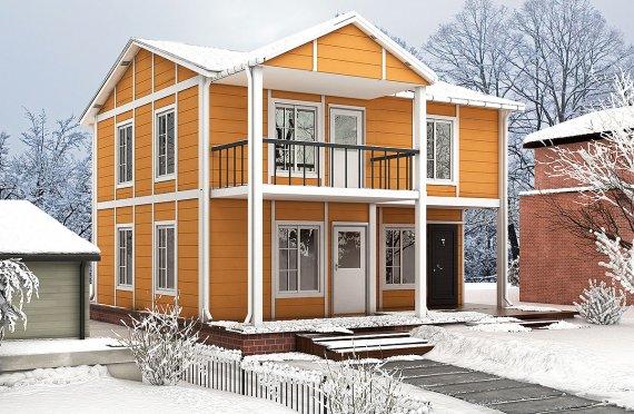 Prefabrikovaný dům 112 m²