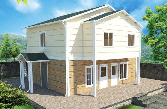 Prefabrikovaný dům 114 m²