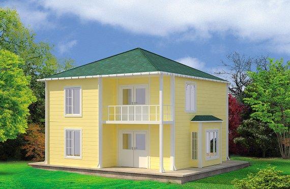 Prefabrikovaný dům 124 m²