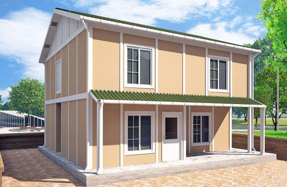 Prefabrikovaný dům 127 m²