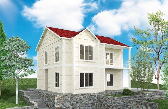 Prefabrikovaný dům 132 m²