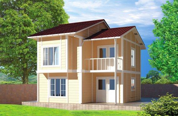 Prefabrikovaný dům - 91 m²
