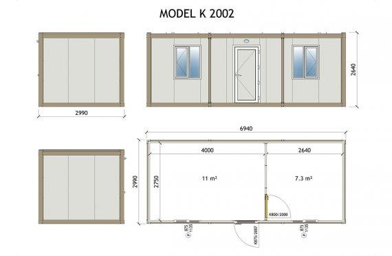 Mobilní kabina K 2002