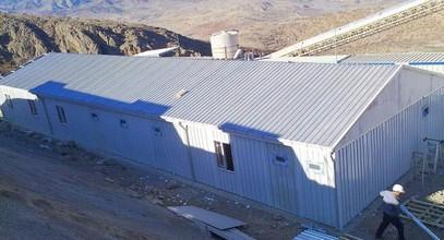 Prefabrikovaný pracovní campy pro pracoviště tepelné elektrárny Tuncbilek z Karmodu