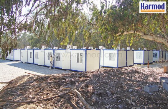 Libye Container stavební komplex dokončeno