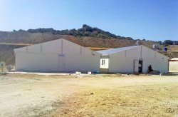 Prefabricated workers camp for Tuncbilek thermal power plant worksite from Karmod