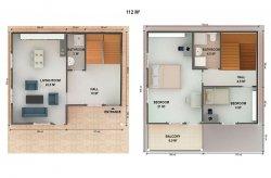 Plány dvoupodlažních panelových domů