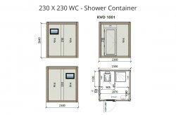 Plany mobilnych wc/sprcha